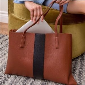 Beautiful rust color Vince Camuto leather tote